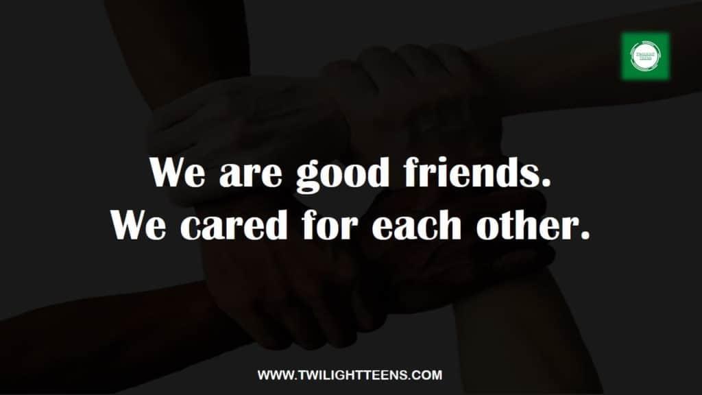 Friendship status about bond