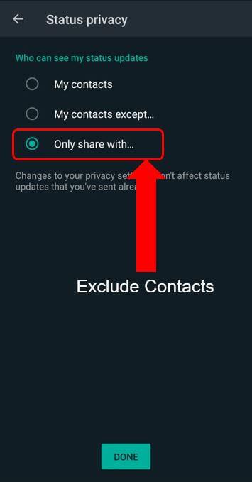 status privacy
